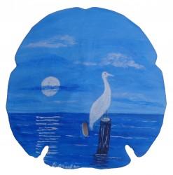 Egret in Moonlight